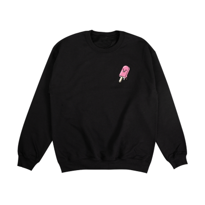 Popsicle Youth Crewneck Black & Pink