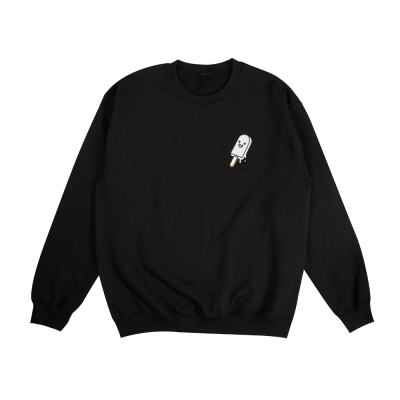 Popsicle Youth Crewneck Black & White