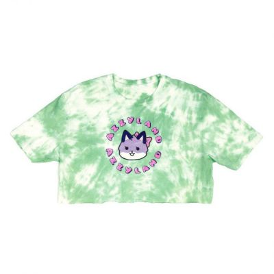 Azzyland Green Tie Dye Crop Top
