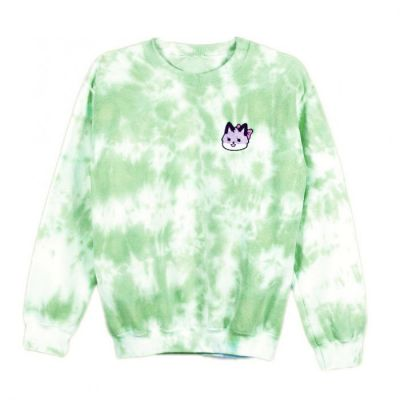 Azzyland Green Tie Dye Sweater