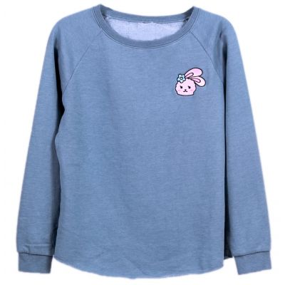 Azzyland Light Blue Crew Neck Sweater