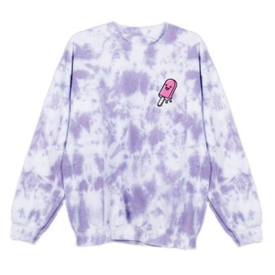 Azzyland Poppy Purple Tie Dye Sweater
