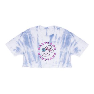 Azzyland Blue Tie Dye Crop Top