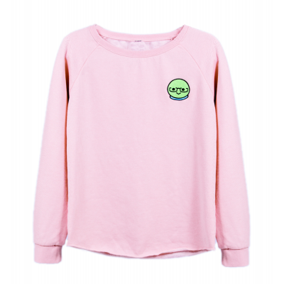 Azzyland Pink Crew neck Sweater